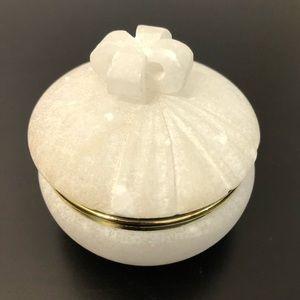 White Stone Bow Trinket Jewelry Box